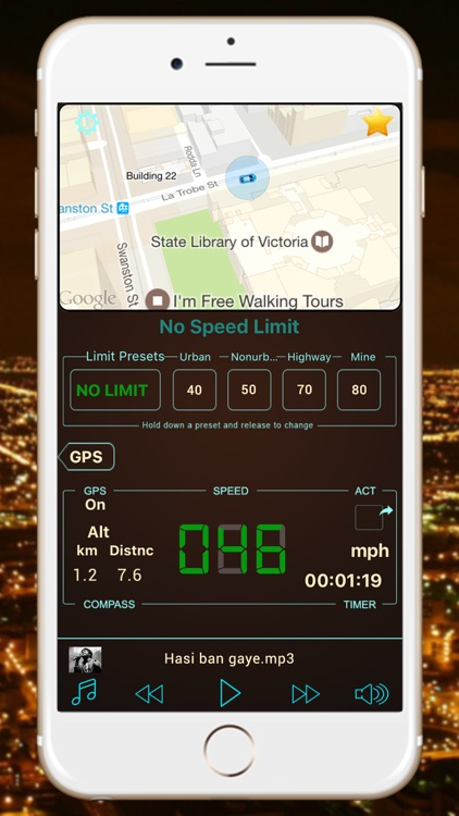Speedometer Hud Speed Tracker