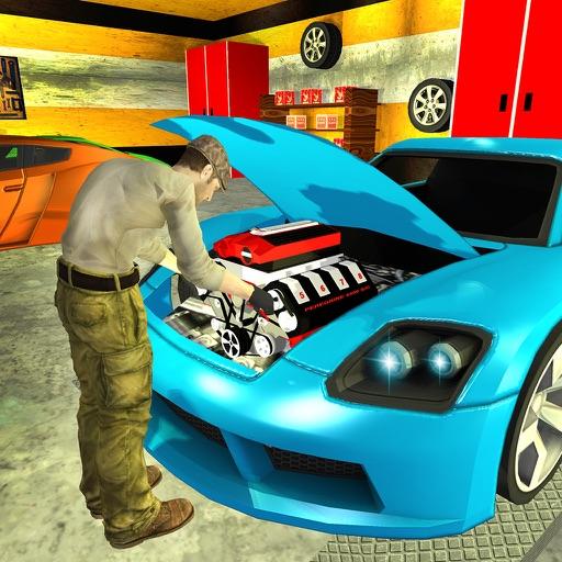 Sports Cars Mechanic Garage