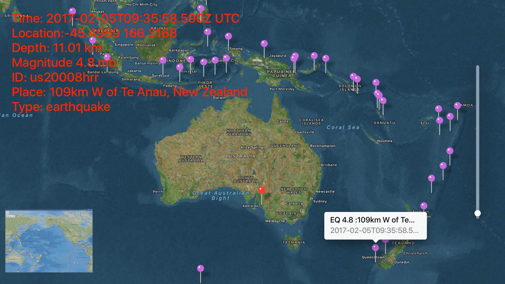 Instant USGS Earthquake Lite screenshot 15
