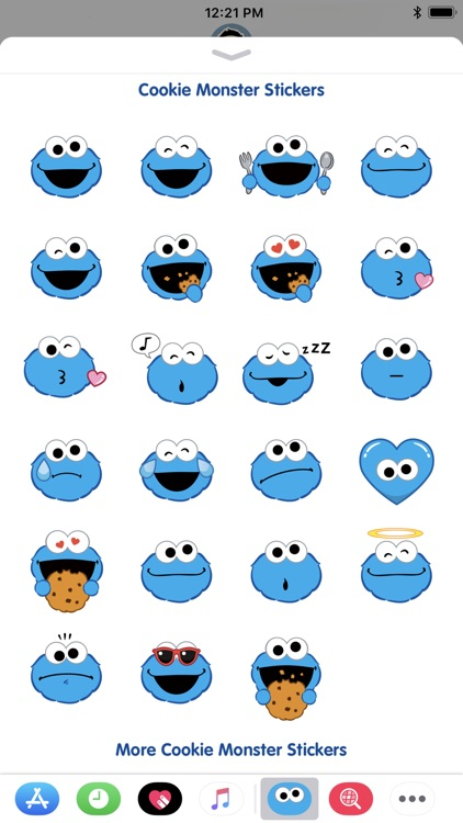 Cookie Monster Stickers