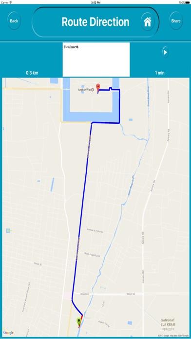 Angkor Wat Cambodia Offline Map Navigation Tour review screenshots