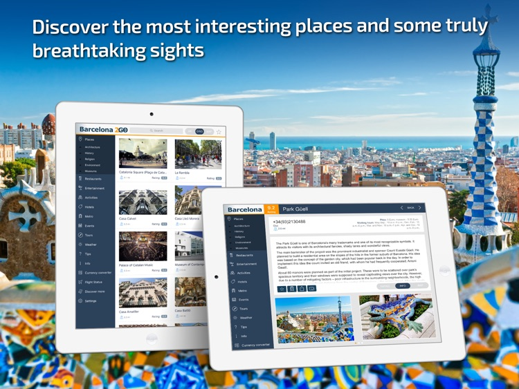 Barcelona Travel Guide & offline city map