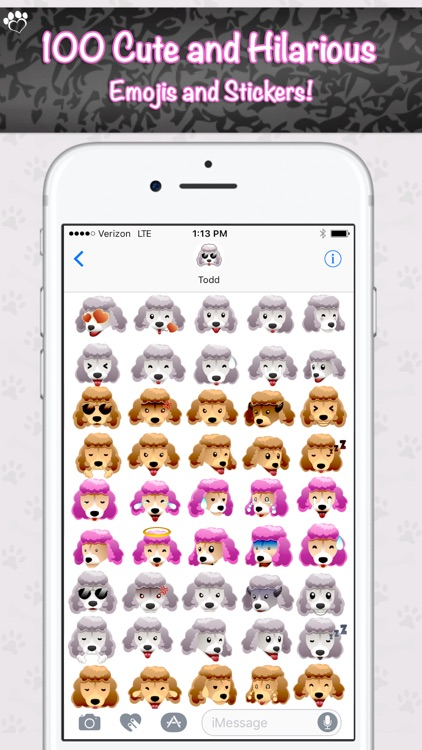 PoodleMoji - Poodle Lovers Emojis and Stickers screenshot-2