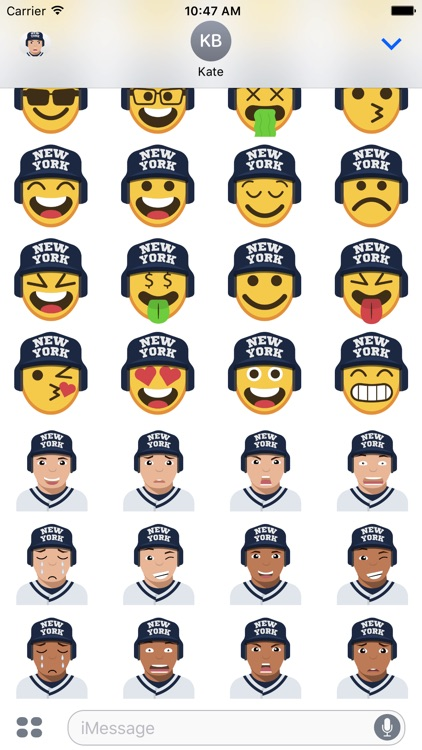 New York Y Baseball Stickers & Emojis screenshot-4