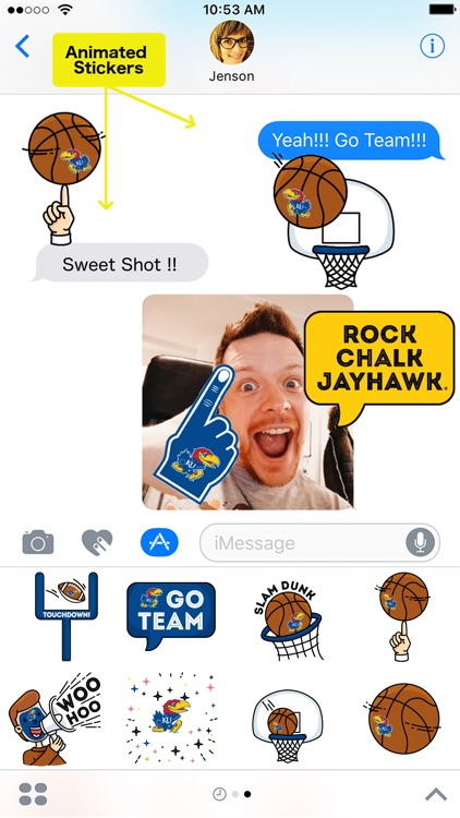 Kansas Animated+Stickers for iMessage