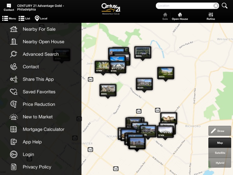 PA & NJ Homes for Sale for iPad