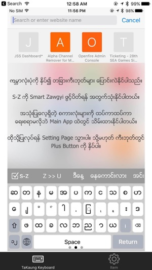 TaKaung Myanmar Keyboard on the App Store