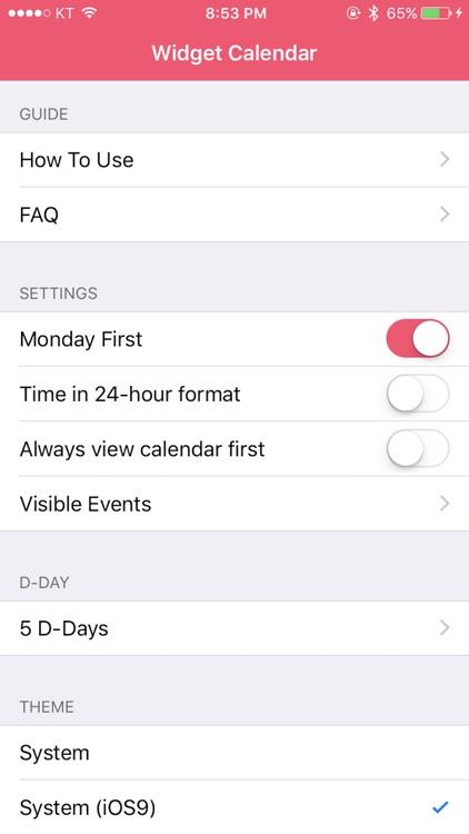 Widget Calendar screenshot-4