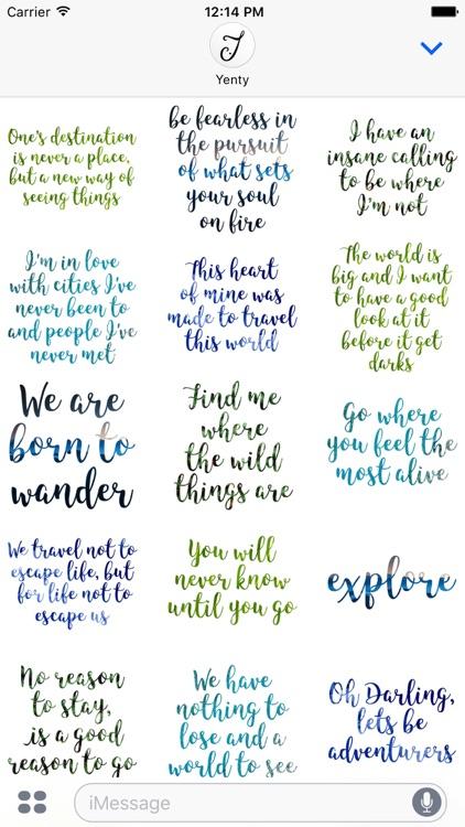 Wanderlust Traveller Messages screenshot-3