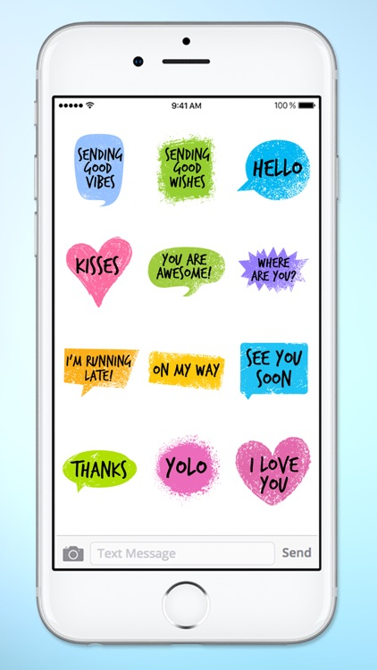 Colorful Words Text Sticker Pack