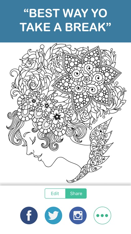 adult color anti stress therapy coloring book screenshot-4
