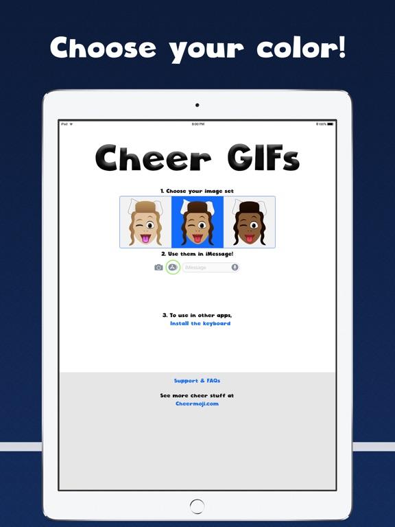 Cheer GIFs Cheerleading Emojis screenshot 6