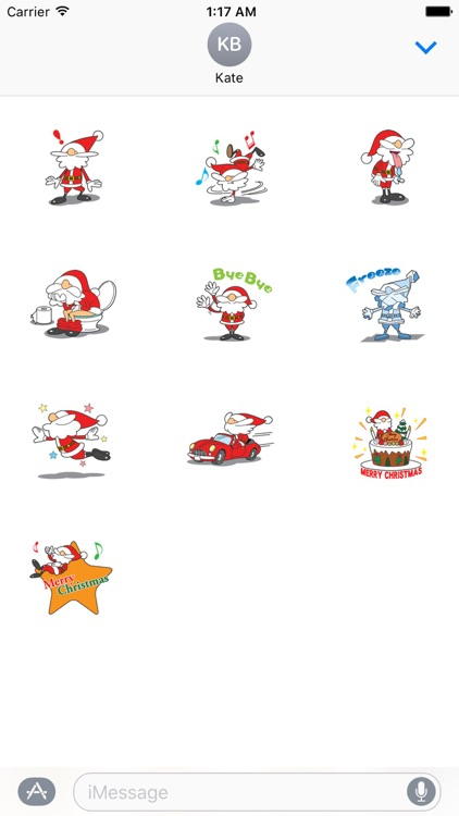 Stickers Of Funny Santa Claus