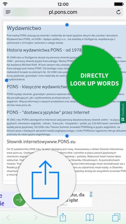 Dictionary Polish - English CONCISE by PONS screenshot-3
