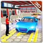 servicio de coche de estacionamiento de la estació icon