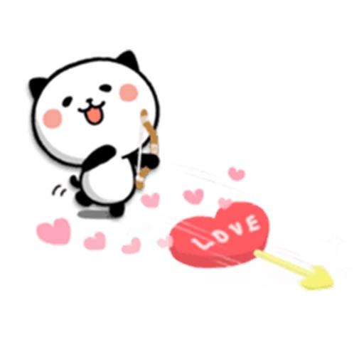 Happy Bear in Love - New Animal Stickers!! app logo