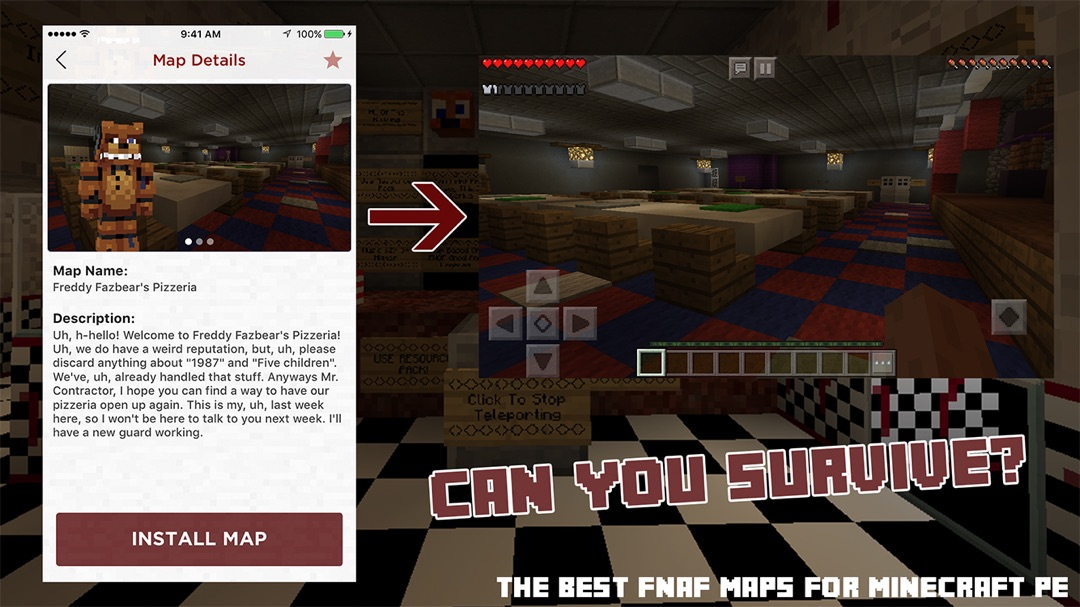FNAF Maps for Minecraft PE - Online Game Hack and Cheat
