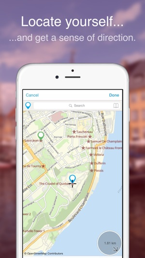 Quebec City on Foot fline Map on the App Store