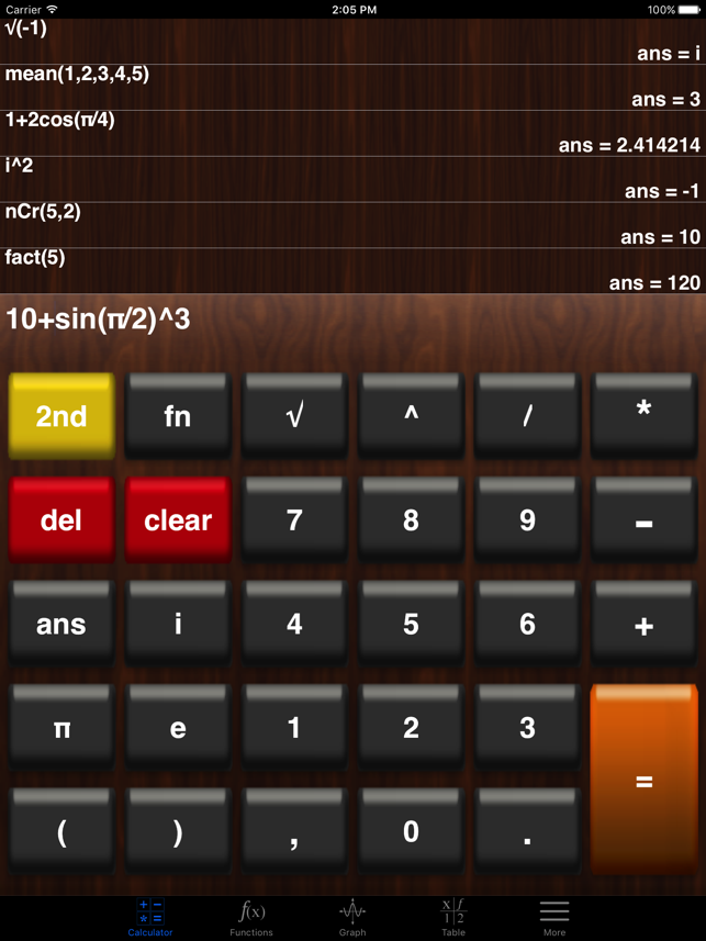 My Graphing Calculator Screenshot