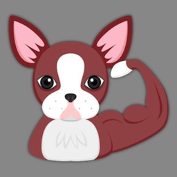 Red Boston Terrier Emoji Stickers for iMessage