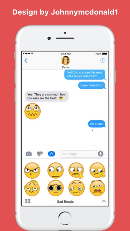 Sad Emojis stickers for iMessage