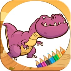 Activities of Coloring Pages Game Dinosaur for Girls & Boys