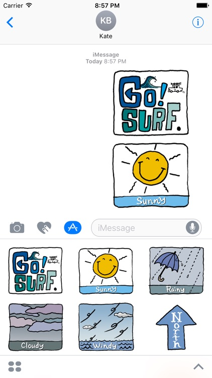 Surfing Sport Stickers by Design91