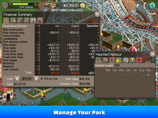 Screenshot #4 for RollerCoaster Tycoon® Classic