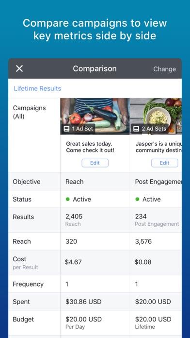 Facebook広告マネージャ screenshot1