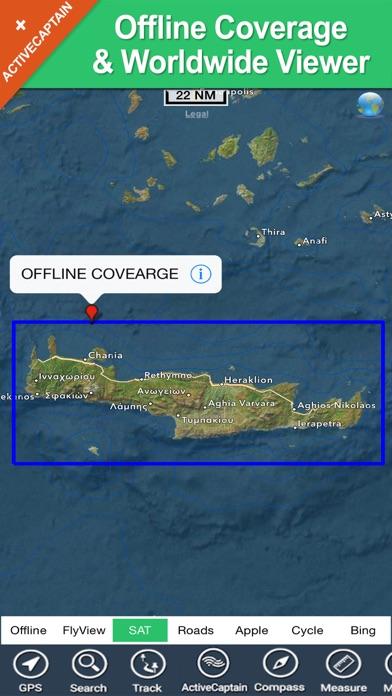 download Crete (Greece) charts GPS offline maps Navigator apps 2