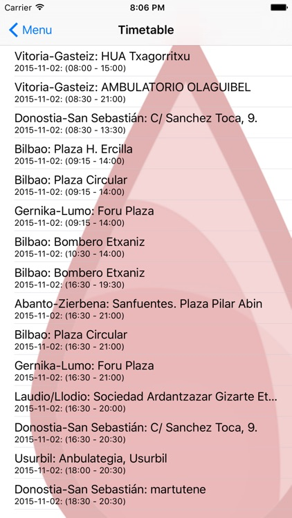 Basque Country blood donors screenshot-3