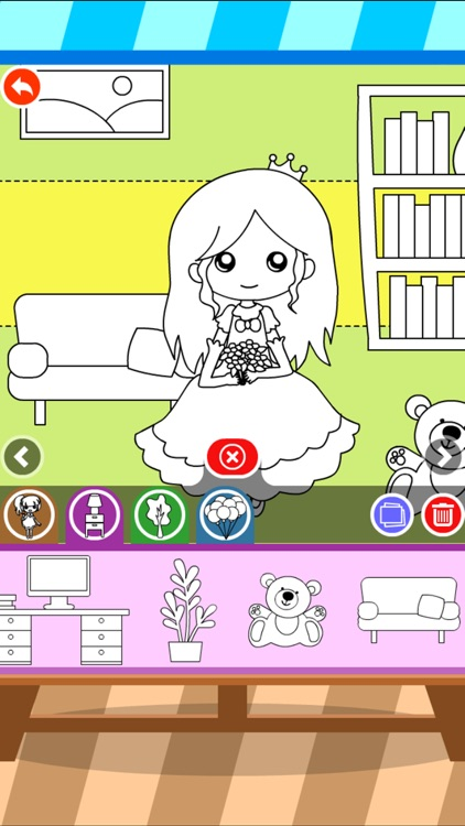 Coloring Dress up: Kids Amusement park and house