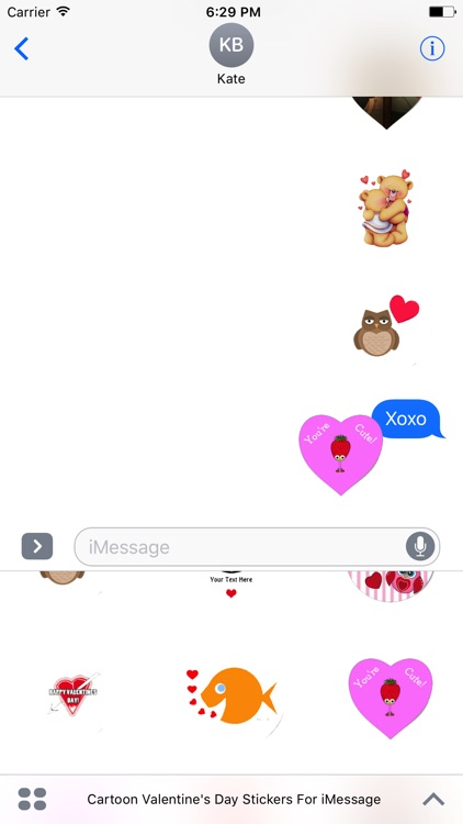 Cartoon Valentines Day Stickers For iMessage screenshot-4