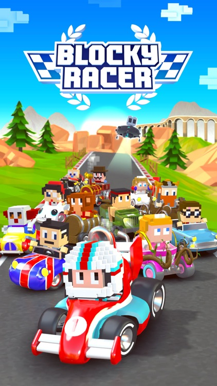 Blocky Racer - Endless Arcade Racing screenshot-4