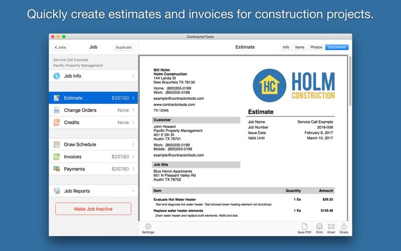 ContractorTools Screenshot