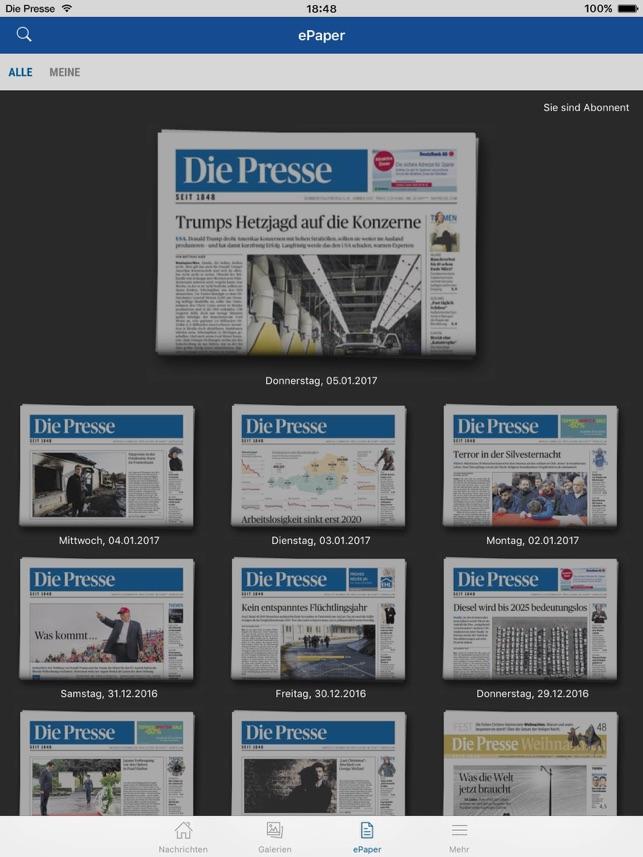 Die Presse Screenshot
