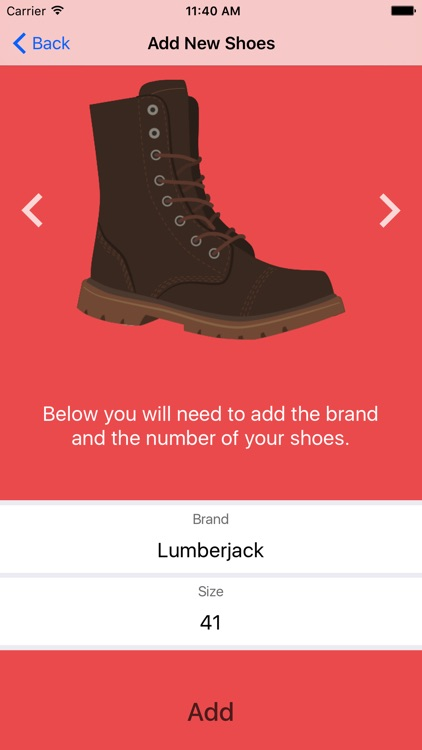 EasyShoes - Shoe Size Reminder