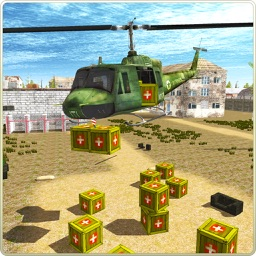 Relief Helicopter Cargo Sim 3D
