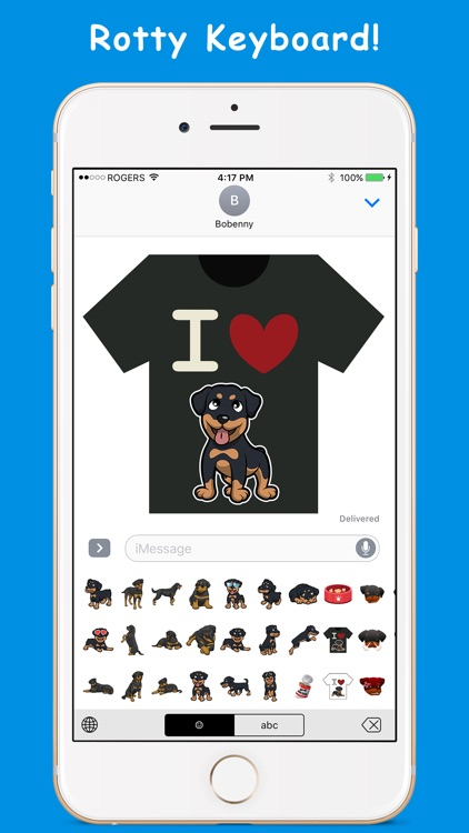 RottyEmoji - Rottweiler Emoji Keyboard & Stickers screenshot-3