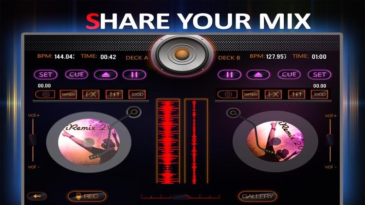 iRemix 2.0 - Portable DJ Music Mixer & Remix Tool screenshot-3