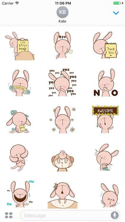 Hobbit The Pink Rabbit Animated Stickers