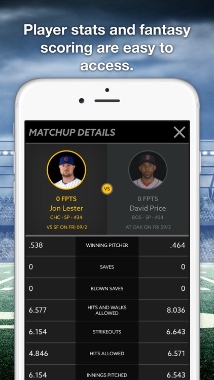 HotRoster Daily Fantasy Match-ups screenshot-3