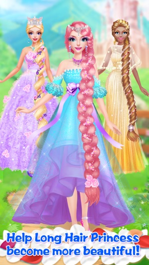 Long Hair Princess Salon Girls Fashion Makeup On The App Store