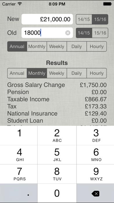 UK Salary Calculator 2019-20 screenshot three
