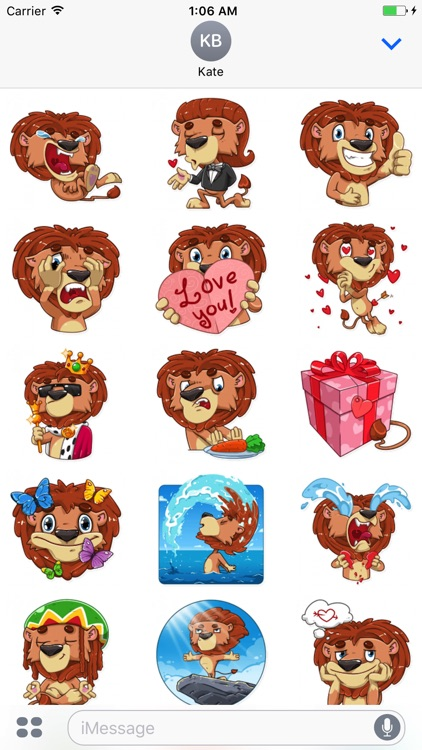 King Leo - Stickers for iMessage