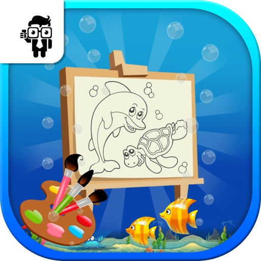 Fish Kids Coloring Book