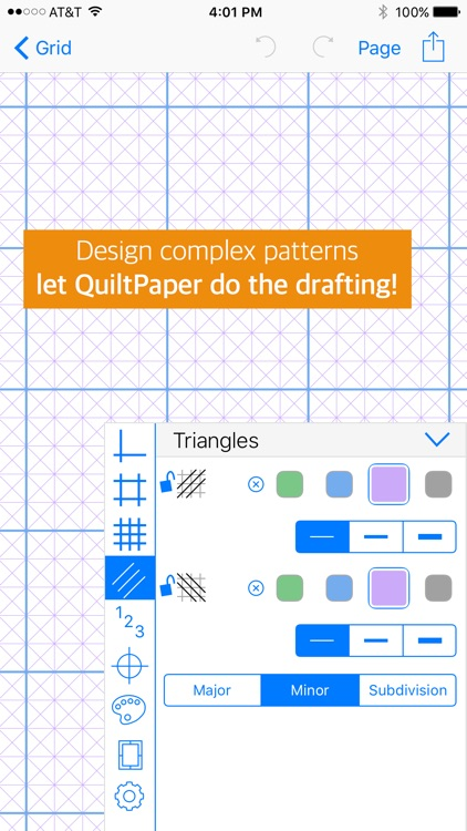 QuiltPaper - Graph paper for Quilters screenshot-0