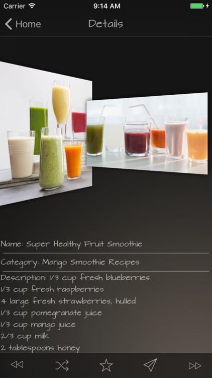 Smoothie Recipes Data screenshot-4