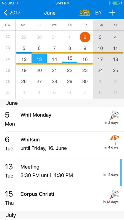 x-Calendar PRO - holiday calendar