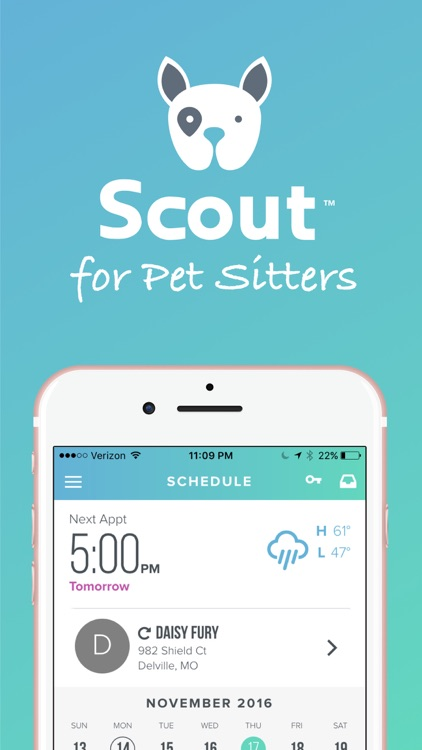 Scout for Dog Walkers & Pet Sitters